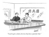 """I used to give a damn, but now they have a patch for that."" - New Yorker Cartoon Premium Giclee Print by Tom Cheney"