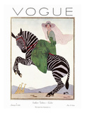 Vogue Cover - January 1926 Premium Giclee Print by Andr&#233; E. Marty