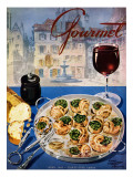 Gourmet Cover - April 1949 Regular Giclee Print by Henry Stahlhut