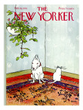 The New Yorker Cover - February 16, 1976 Premium Giclee Print by George Booth