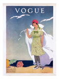 Vogue Cover - July 1912 Regular Giclee Print by Helen Dryden