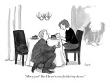 """""""Marry you?  But I haven't even finished my dessert."""" - New Yorker Cartoon Premium Giclee Print by Carolita Johnson"""