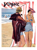 "Vogue Cover - July 1934 Premium Giclee Print by Carl ""Eric"" Erickson"