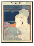 Vogue Cover - December 1917 Premium Giclee Print by Georges Lepape