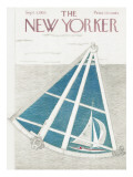 The New Yorker Cover - September 3, 1955 Premium Giclee Print by Ilonka Karasz
