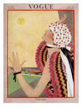 Vogue Cover - July 1922 Premium Giclee Print by George Wolfe Plank