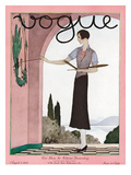 Vogue Cover - August 1929 Regular Giclee Print by André E. Marty