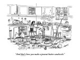 """And that's how you make a peanut-butter sandwich."" - New Yorker Cartoon Premium Giclee Print by Tom Cheney"