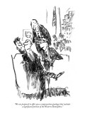 """We are prepared to offer you a compensation package that includes a signi…"" - New Yorker Cartoon Premium Giclee Print by Robert Weber"