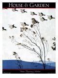 House & Garden Cover - November 1925 Premium Giclee Print by André E. Marty