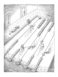 Swimmers turn lane dividers in swimming pool into an abacus. - New Yorker Cartoon Premium Giclee Print by John O'brien