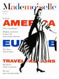 Mademoiselle Cover - April 1957 Regular Giclee Print by  Somoroff