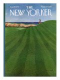 The New Yorker Cover - August 12, 1974 Premium Giclee Print by Albert Hubbell