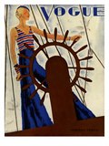 Vogue Cover - June 1931 Premium Giclee Print by Jean Pagès