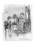 """Is he refined? My dear, he always says 'Mon Dieu'."" - New Yorker Cartoon Premium Giclee Print by Barbara Shermund"