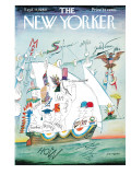 The New Yorker Cover - September 17, 1960 Premium Giclee Print by Saul Steinberg