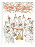 The New Yorker Cover - January 4, 1982 Regular Giclee Print by Edward Koren