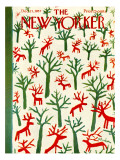The New Yorker Cover - December 21, 1957 Premium Giclee Print by Abe Birnbaum