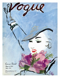 "Vogue Cover - May 1935 Premium Giclee Print by Carl ""Eric"" Erickson"
