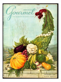 Gourmet Cover - November 1956 Premium Giclee Print by Hilary Knight