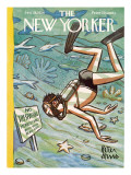 The New Yorker Cover - January 28, 1956 Premium Giclee Print by Peter Arno