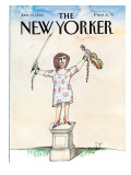 The New Yorker Cover - January 13, 1992 Premium Giclee Print by Saul Steinberg