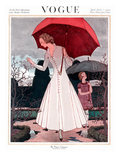 Vogue Cover - April 1922 Regular Giclee Print by Pierre Brissaud