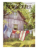 The New Yorker Cover - July 28, 1956 Premium Giclee Print by Edna Eicke