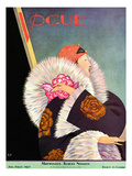 Vogue Cover - January 1927 Premium Giclee Print by George Wolfe Plank