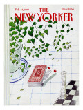 The New Yorker Cover - February 14, 1983 Regular Giclee Print by Jean-Jacques Sempé