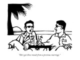 """""""She's got three moods from a previous marriage."""" - New Yorker Cartoon Premium Giclee Print by Drew Dernavich"""