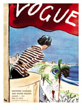 "Vogue Cover - January 1932 Premium Giclee Print by Carl ""Eric"" Erickson"