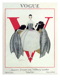 Vogue Cover - September 1920 - Wrapped in Feathers Regular Giclee Print by Georges Lepape