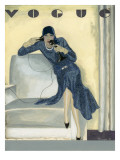 Vogue - April 1929 Regular Giclee Print by Pierre Mourgue