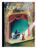 In the Spotlight - The New Yorker Cover, March 15, 2010 Regular Giclee Print by Jean-Jacques Sempé