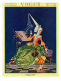 Vogue Cover - March 1917 Premium Giclee Print by Frank X. Leyendecker