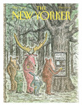 The New Yorker Cover - May 7, 1990 Regular Giclee Print by Edward Koren