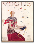 Vogue Cover - February 1924 Regular Giclee Print by Eduardo Garcia Benito