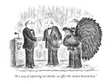 """""""As a way of expressing our thanks, we offer this modest honorarium."""" - New Yorker Cartoon Premium Giclee Print by Edward Koren"""