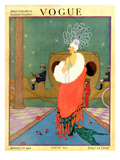 Vogue Cover - January 1918 Premium Giclee Print by Helen Dryden