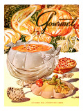 Gourmet Cover - October 1948 Regular Giclee Print by Henry Stahlhut