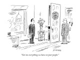 """""""Get me everything we have on poor people."""" - New Yorker Cartoon Premium Giclee Print by David Sipress"""