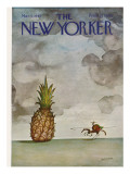 The New Yorker Cover - March 4, 1967 Premium Giclee Print by Saul Steinberg