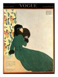 Vogue Cover - October 1918 Regular Giclee Print by Helen Dryden