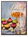 Gourmet Cover - August 1951 Regular Giclee Print by Henry Stahlhut