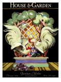 House & Garden Cover - February 1924 Regular Giclee Print by Bradley Walker Tomlin