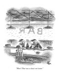 """Wow! That was a classic nor'easter."" - New Yorker Cartoon Premium Giclee Print by Frank Cotham"
