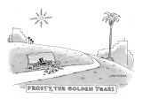 """Frosty, The Golden Years"" - New Yorker Cartoon Premium Giclee Print by Mick Stevens"