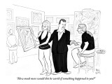"""How much more would this be worth if something happened to you?"" - New Yorker Cartoon Premium Giclee Print by Paul Noth"