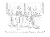 """I hate to admit it, but a man with a big carbon footprint makes me hot."" - New Yorker Cartoon Premium Giclee Print by Robert Mankoff"